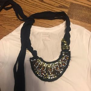 A&F Abercrombie & Fitch Navy Necklace Accessory